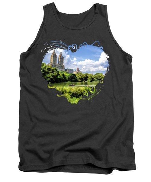 New York City Central Park Lake Rowboats Tank Top