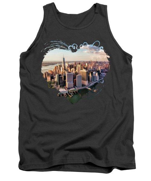 New York City Manhattan Aerial Skyline Tank Top