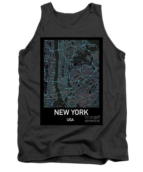 New York City Map Black Edition Tank Top
