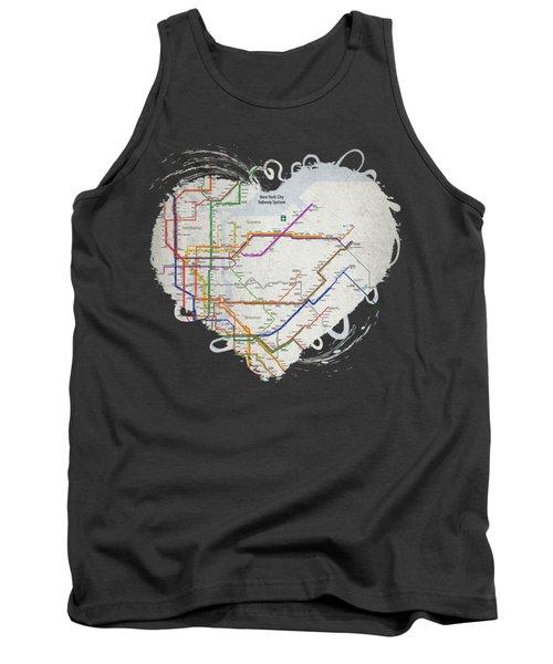New York City Subway Map Tank Top