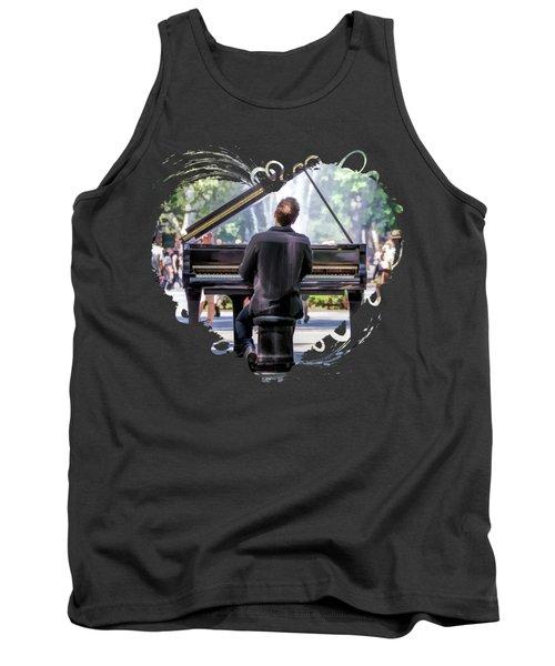 New York City Washington Park Piano Player Tank Top
