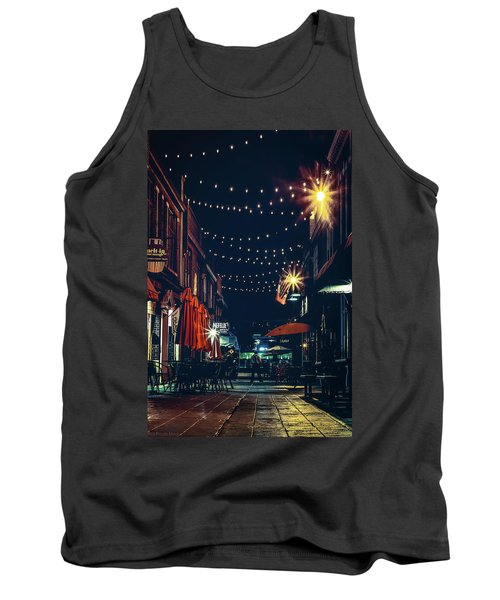 Night Dining In The City Tank Top