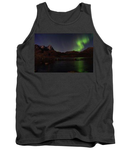 Northern Lights Aurora Borealis In Norway Tank Top