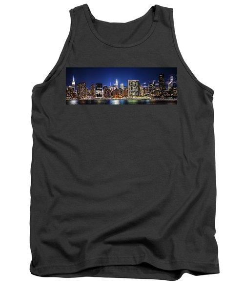 Tank Top featuring the photograph Nyc Nightshine by Theodore Jones