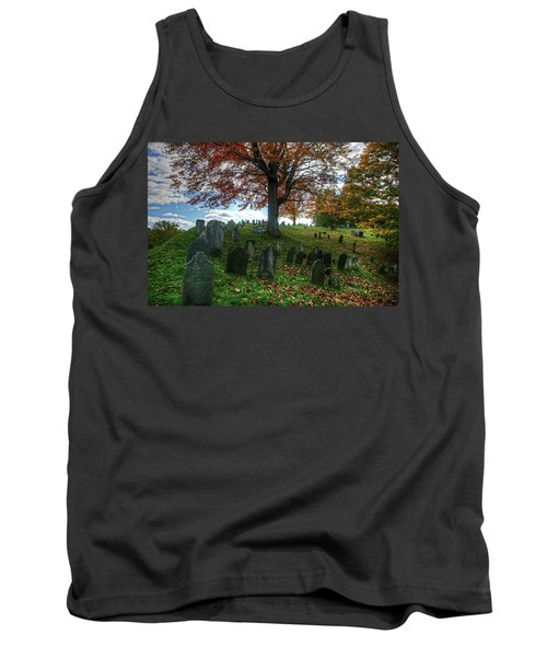 Old Hill Burying Ground In Autumn Tank Top