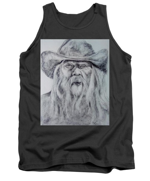 Old Man In A Hat  Tank Top