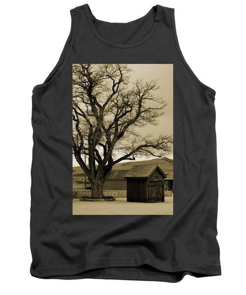 Old Shanty In Sepia Tank Top