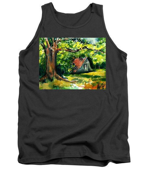 Ozarks Barn In Boxley Valley - Late Summer Tank Top