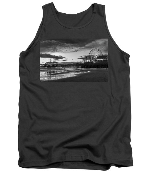 Pacific Park - Black And White Tank Top