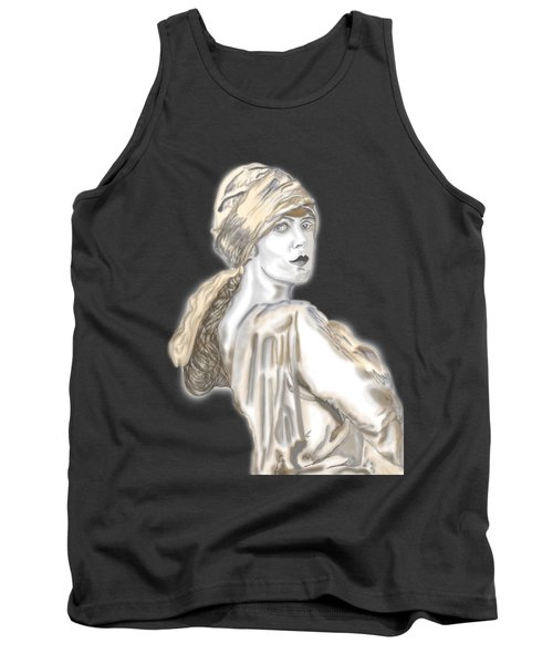Painting Of A Lady Tank Top