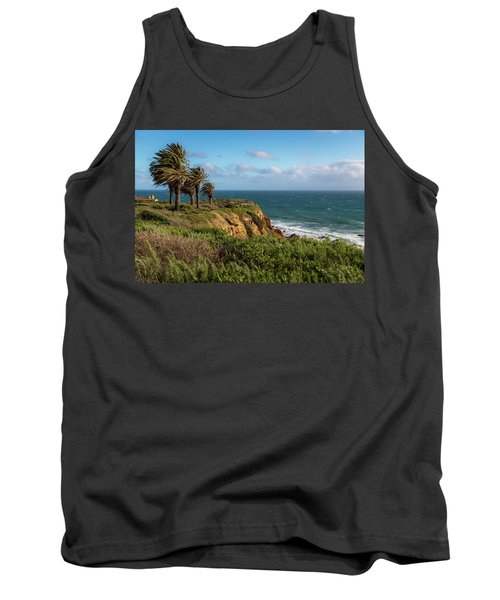 Palm Trees Blowing In The Wind Tank Top
