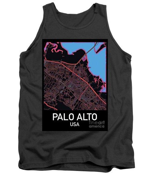 Palo Alto City Map Tank Top