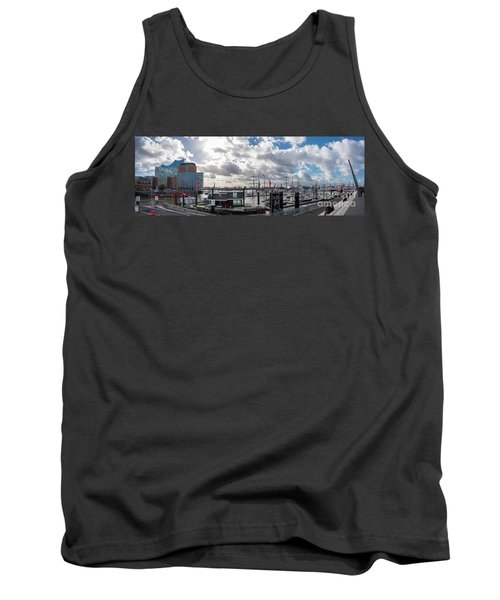 Panoramic View Of Hamburg Tank Top
