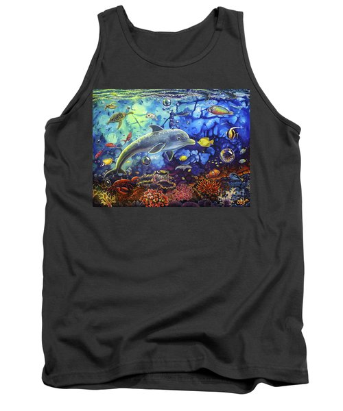 Past Memories New Beginnings Dolphin Reef Tank Top