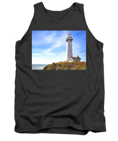 Pigeon Point Lighthouse Ca Tank Top