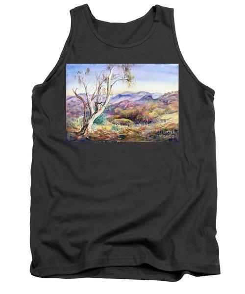 Tank Top featuring the painting Pilbara, Hamersley Range, Western Australia. by Ryn Shell