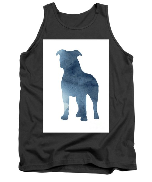 Pitbull Picture Staffordshire Bull Terrier Paintings Dog Poster Tank Top