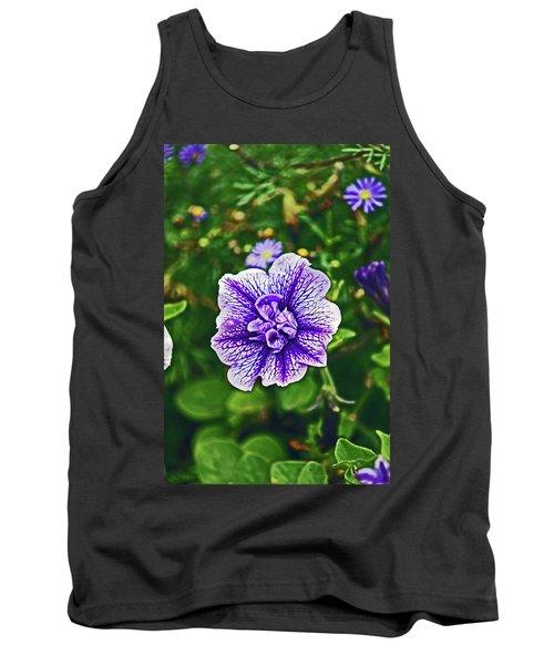 Pitlochry.  Purple Petunia. Tank Top
