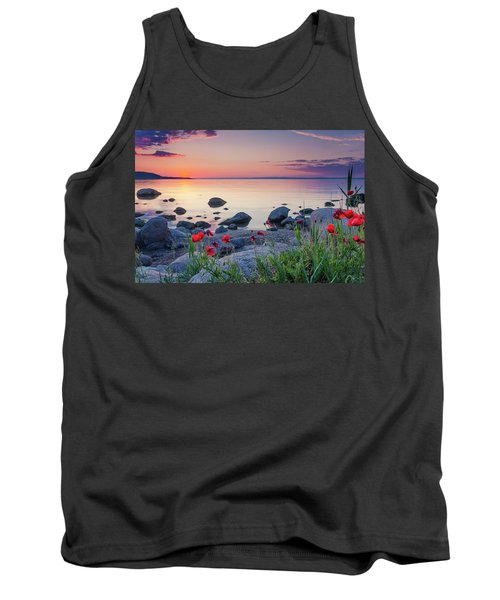 Poppies By The Sea Tank Top
