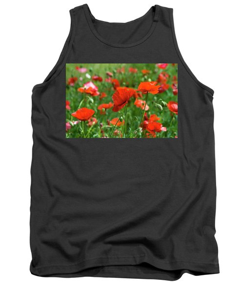 Poppies In The Field Tank Top