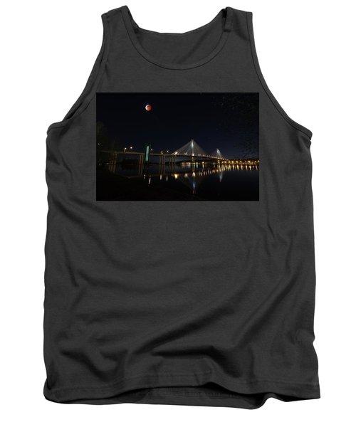 Port Mann Bridge With Blood Moon Tank Top