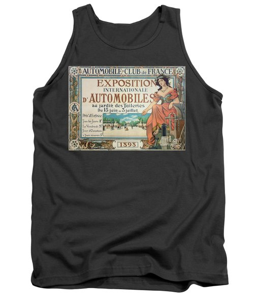 Poster Advertising The Exposition Internationale Automobiles At The Tuileries Gardens 1898 Tank Top