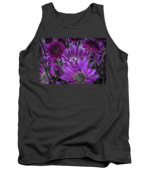 Purple Power Chrysanthem Selective Colorum  Tank Top