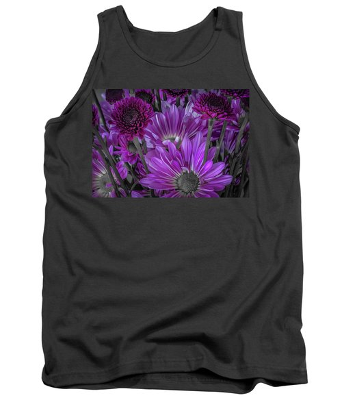 Purple Power Chrysanthemum  Tank Top