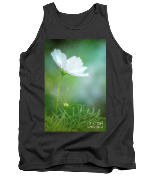 Radiant White Cosmos In The Evening Light Tank Top