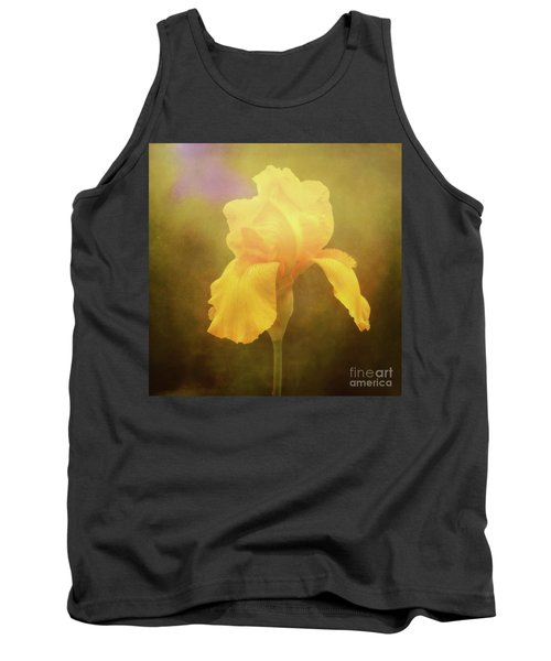 Radiant Yellow Iris With A Vintage Touch Tank Top