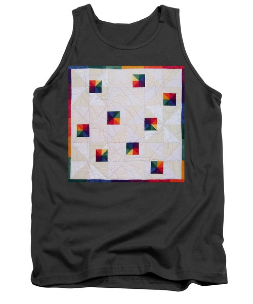 Rainbow Pinwheel Tank Top