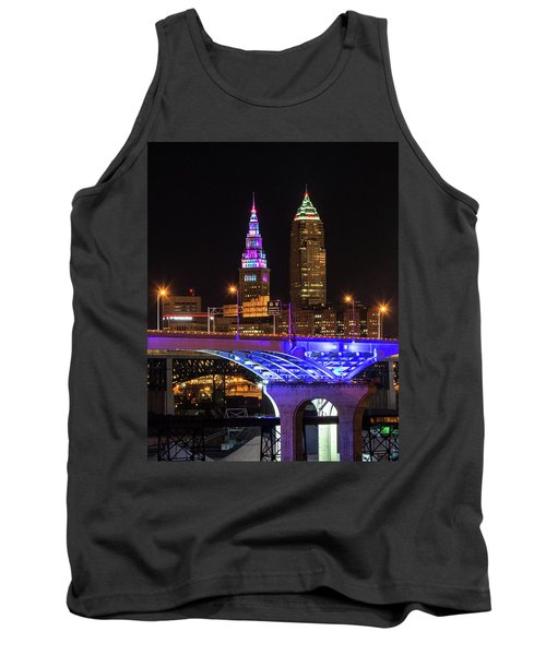 Rainbow Tower In Cleveland Tank Top