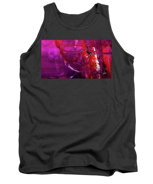 Rainy Day Woman - Purple And Red Large Abstract Art Painting Tank Top