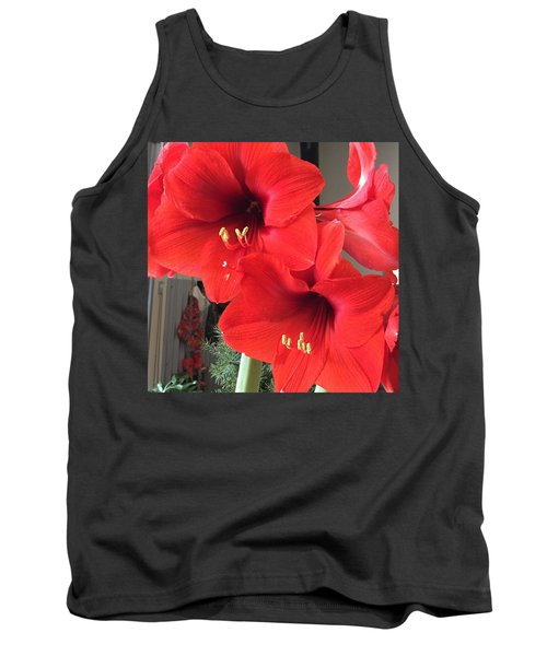 Red Amaryllis Tank Top