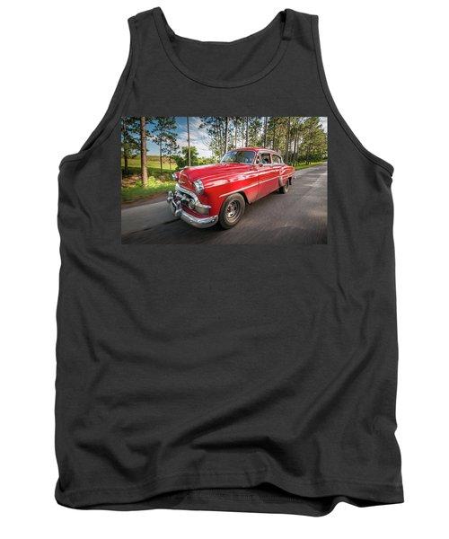 Red Classic Cuban Car Tank Top