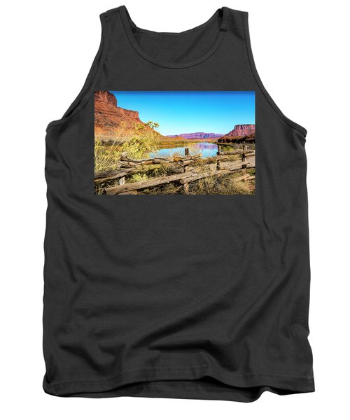 Tank Top featuring the photograph Red Cliffs Canyon by David Morefield