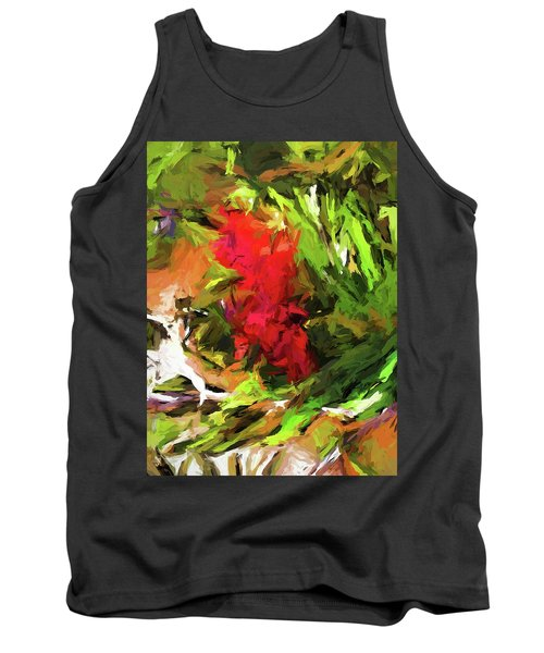 Red Flower On The Branch Tank Top