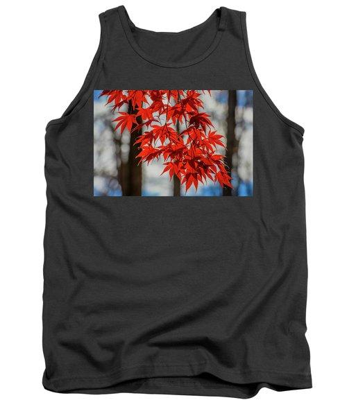 Red Leaves Tank Top