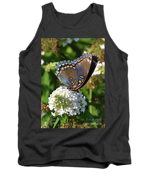 Red-spotted Purple On White Butterfly Bush Tank Top