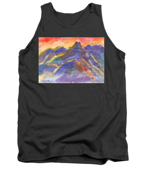 Red Sunset In The Mountains Tank Top
