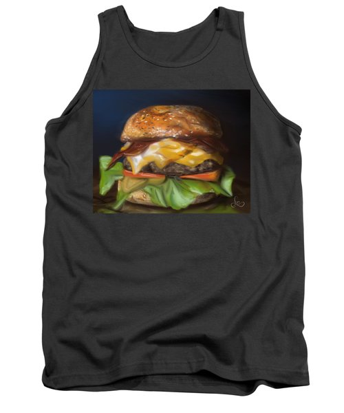Tank Top featuring the pastel Renaissance Burger  by Fe Jones