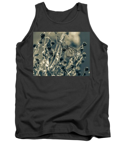 Resting Butterfly Bw Tank Top