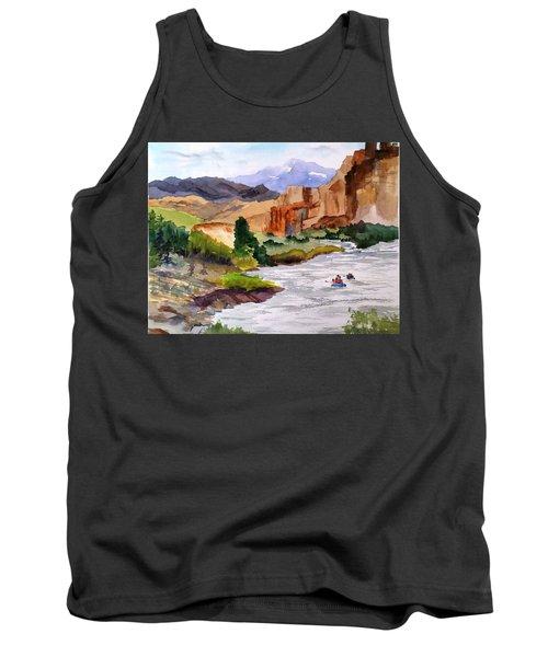River Rafting In Montana Tank Top