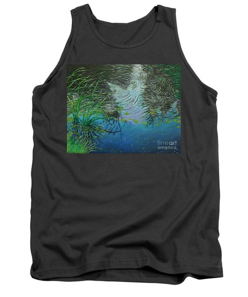 River ...ripples And Reeds Tank Top