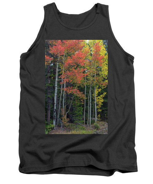 Tank Top featuring the photograph Rocky Mountain Forest Reds by James BO Insogna