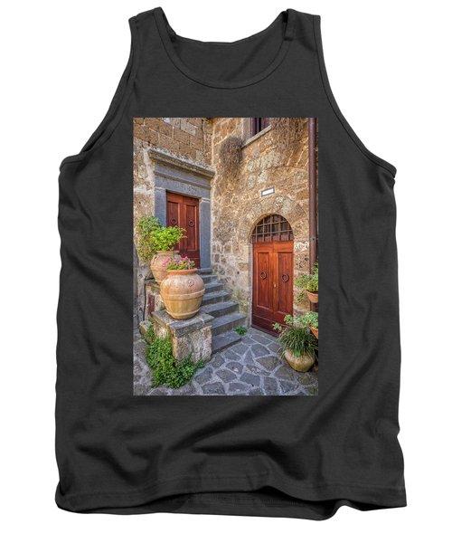 Romantic Courtyard Of Tuscany Tank Top