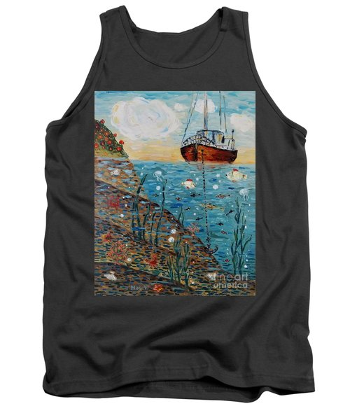 Tank Top featuring the painting Safe Harbor by Maria Langgle