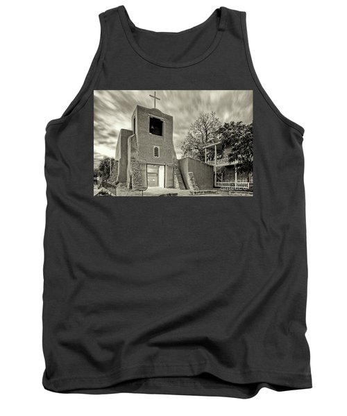 San Miguel Mission And Chapel - Santa Fe The City Different New Mexico Land Of Enchantment Tank Top