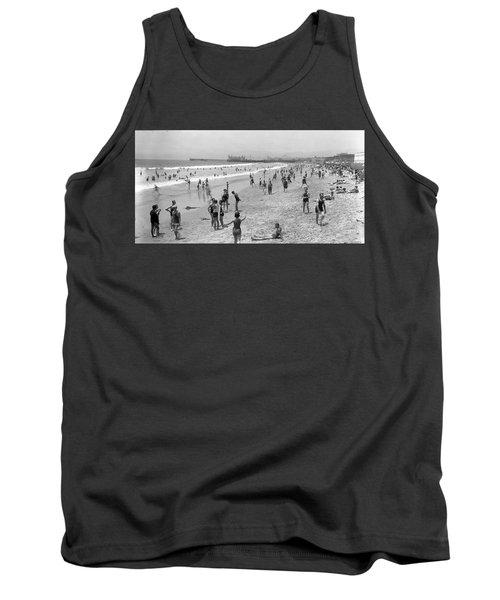 Santa Monica Beach Circa 1920 Tank Top