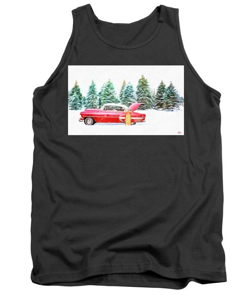 Tank Top featuring the painting Santa's Other Sleigh by Harry Warrick